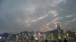 香港中环的夜景